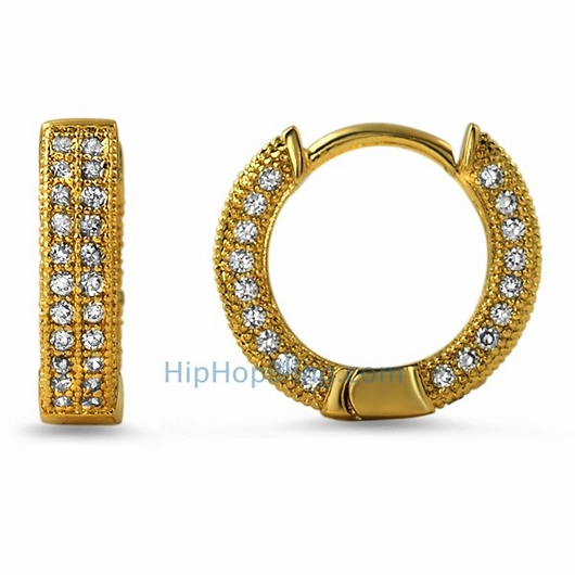 gold bling mini hoops
