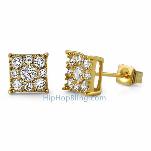 Gold cluster studs