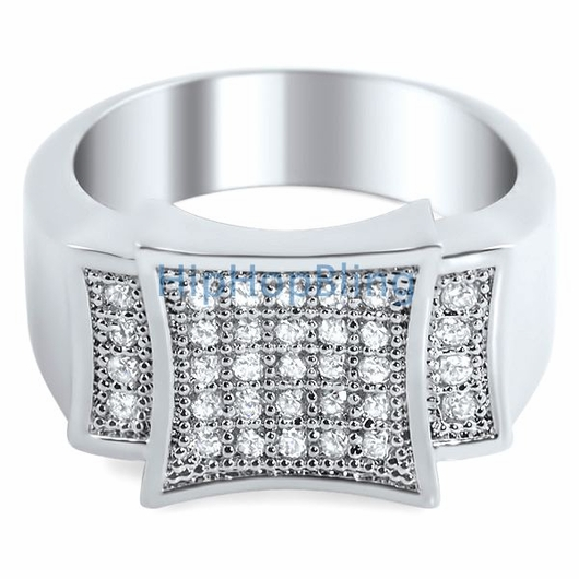 Silver Bling Men's Ring