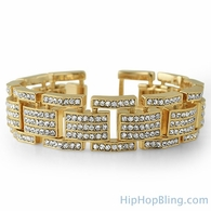 Gold bling men's braclet