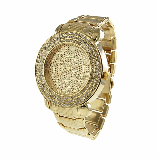 triple iced gold watch