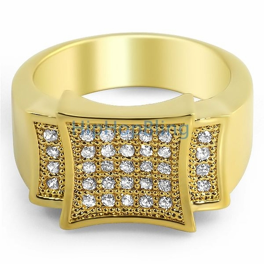 Gold Bling Men's Ring