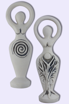 Mini Spiral Goddess Statue