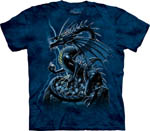 T-shirt large Skull Dragon