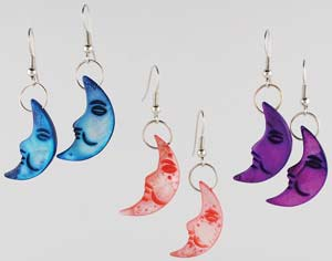 Mother of Pearl Moon Earrings (out of stock)