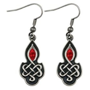 Celtic Ruby Earrings (out of stock)