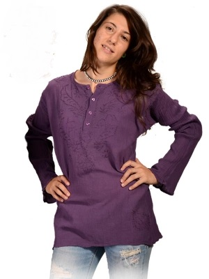 Long Sleeve Kurta Blouse (out of stock)