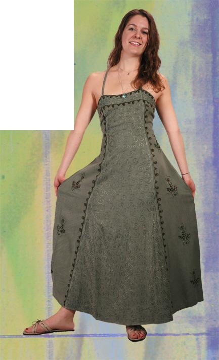 Dress Rayon Criss Cross Back Long (Out of Stock)