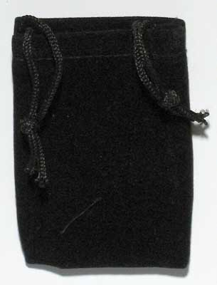 Black Velvet Bag 2x2.5 set of 3