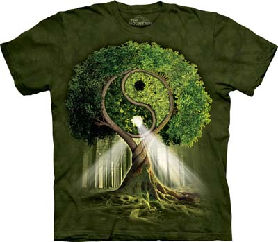 T-Shirt Large Yin Yang Tree (out of stock)