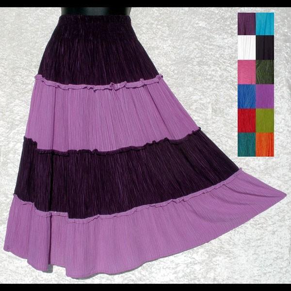 2-Tone Crinkle Skirt