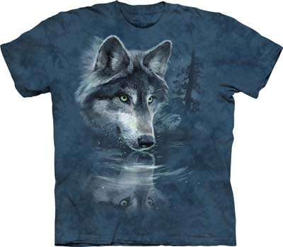 T-shirt large Wolf Reflection