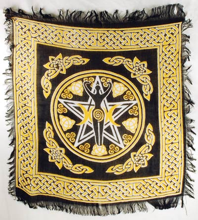 Altar Cloth Pentagram Goddess 18x18