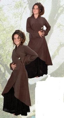 Fleece Wrap Coat
