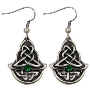 Celtic Emerald Earrings (out of stock)