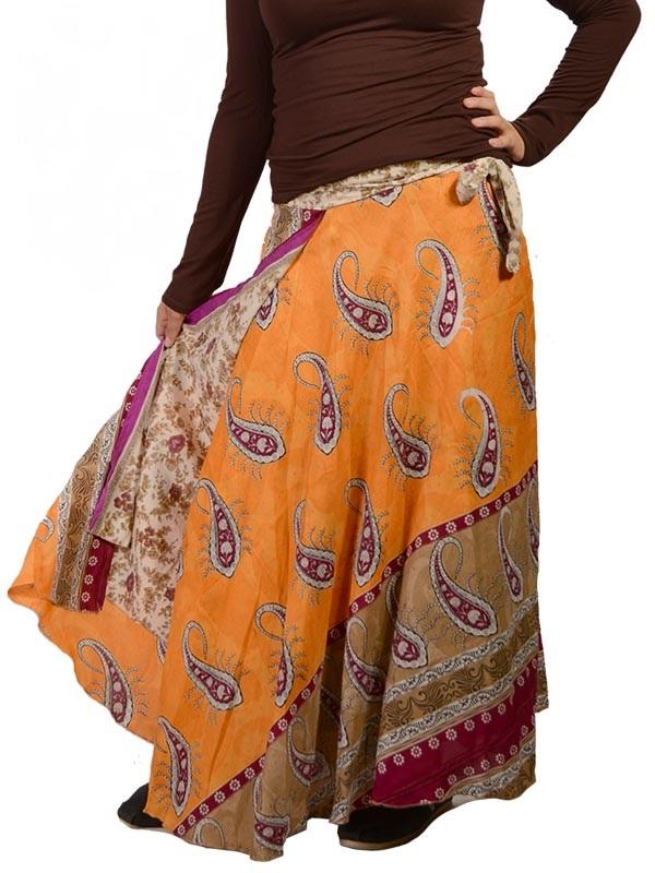 Silk Wrap Skirt / Reversible Dress