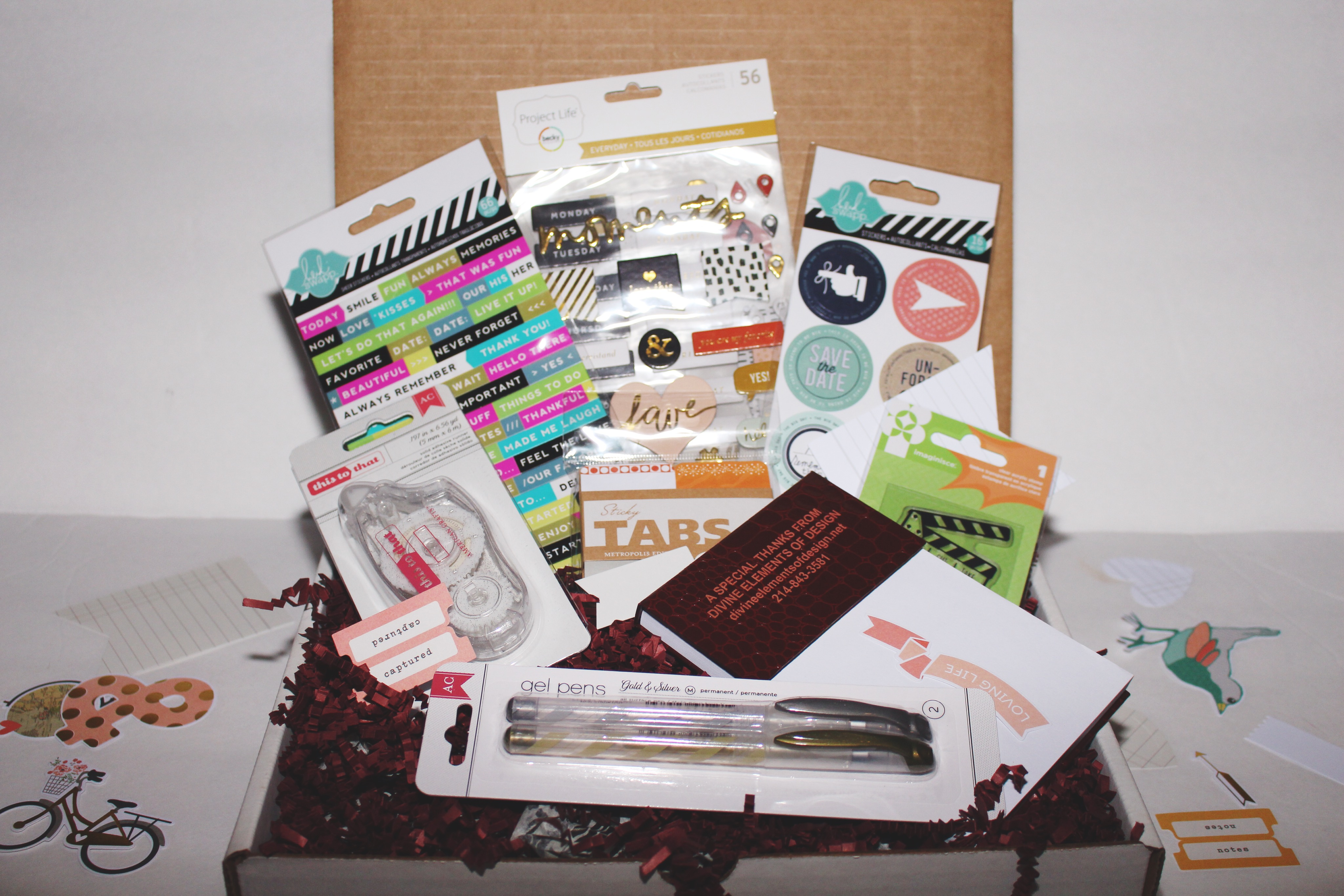 How to scrapbook materials - Contains Over 35 00 Worth Of Planner Supplies