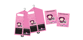 Deluxe Pink Weekend Organizer Set for Girls