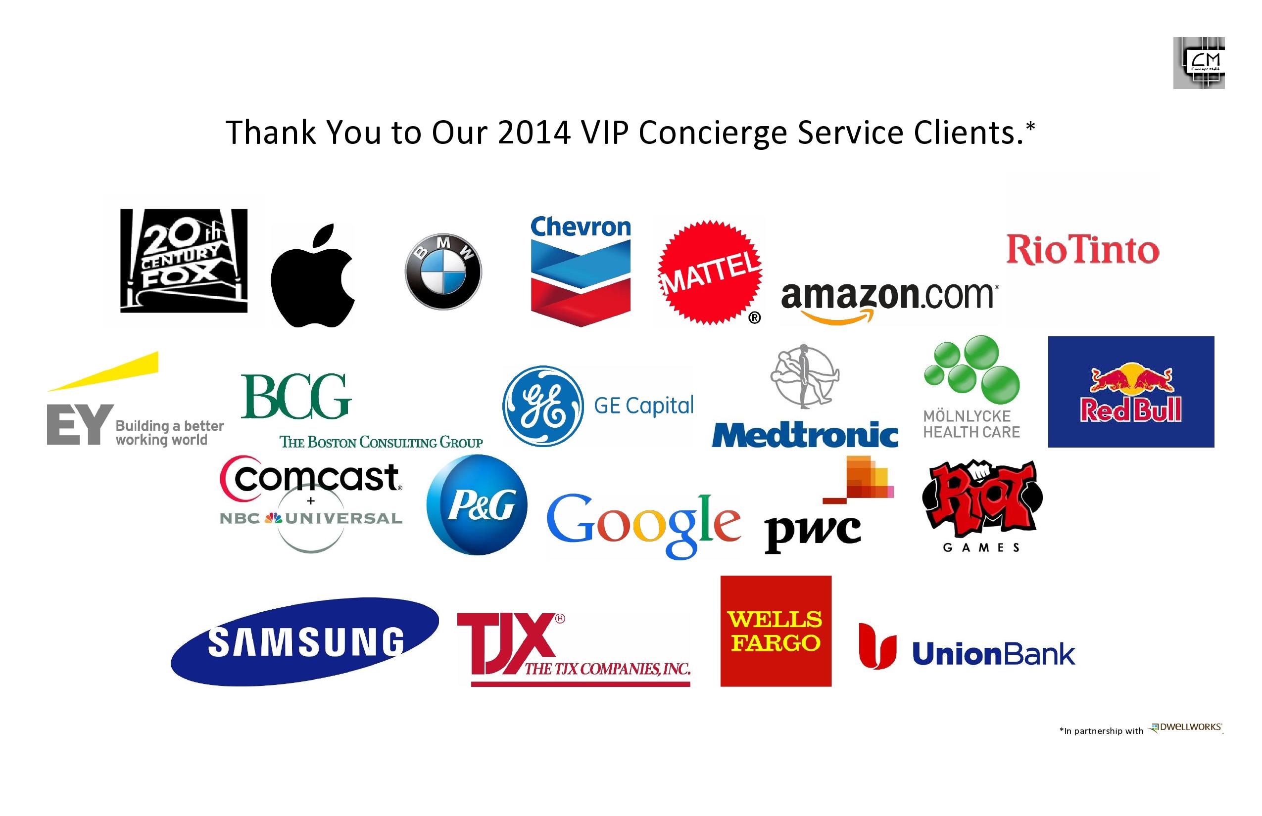 2014 Corporate Clients - Fatima Malik