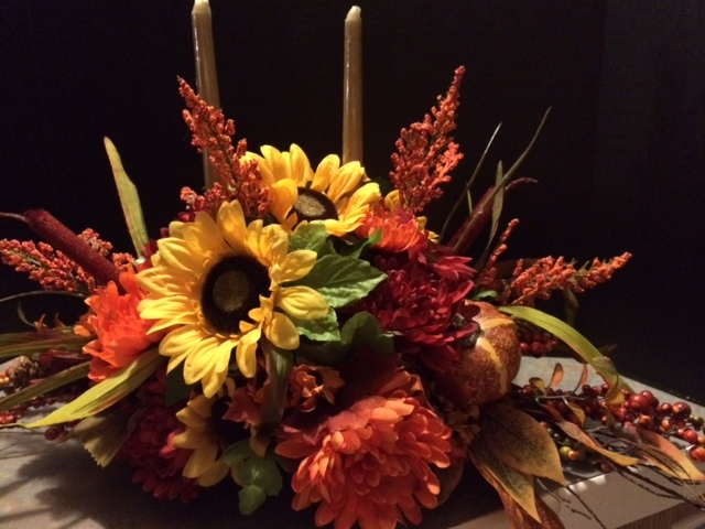 Fall center piece with candles