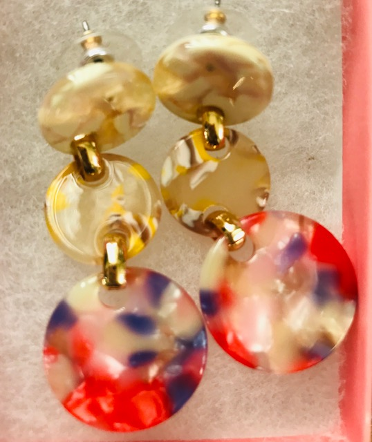 red/mixed earring