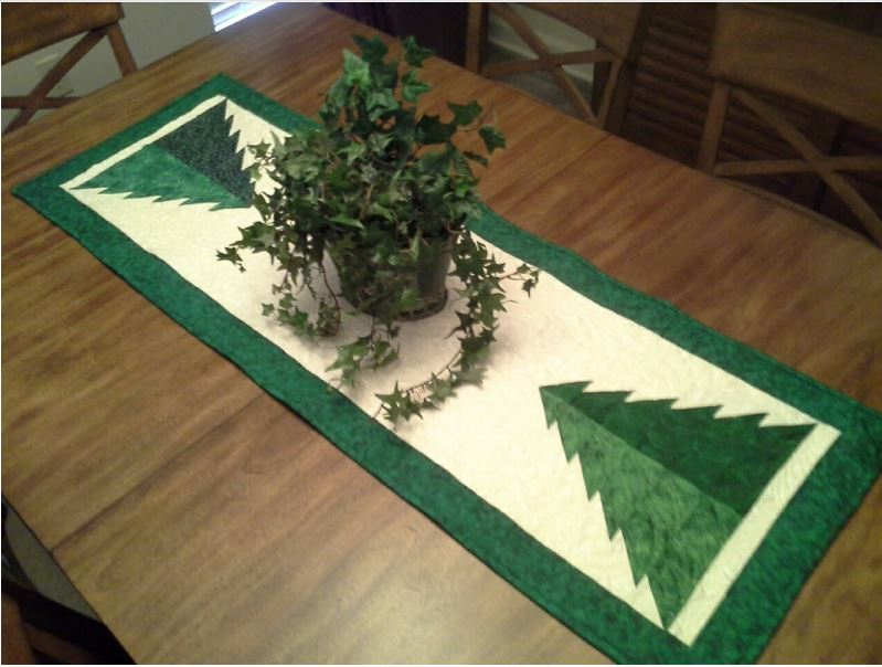 #151 Pine Tree Table Runner