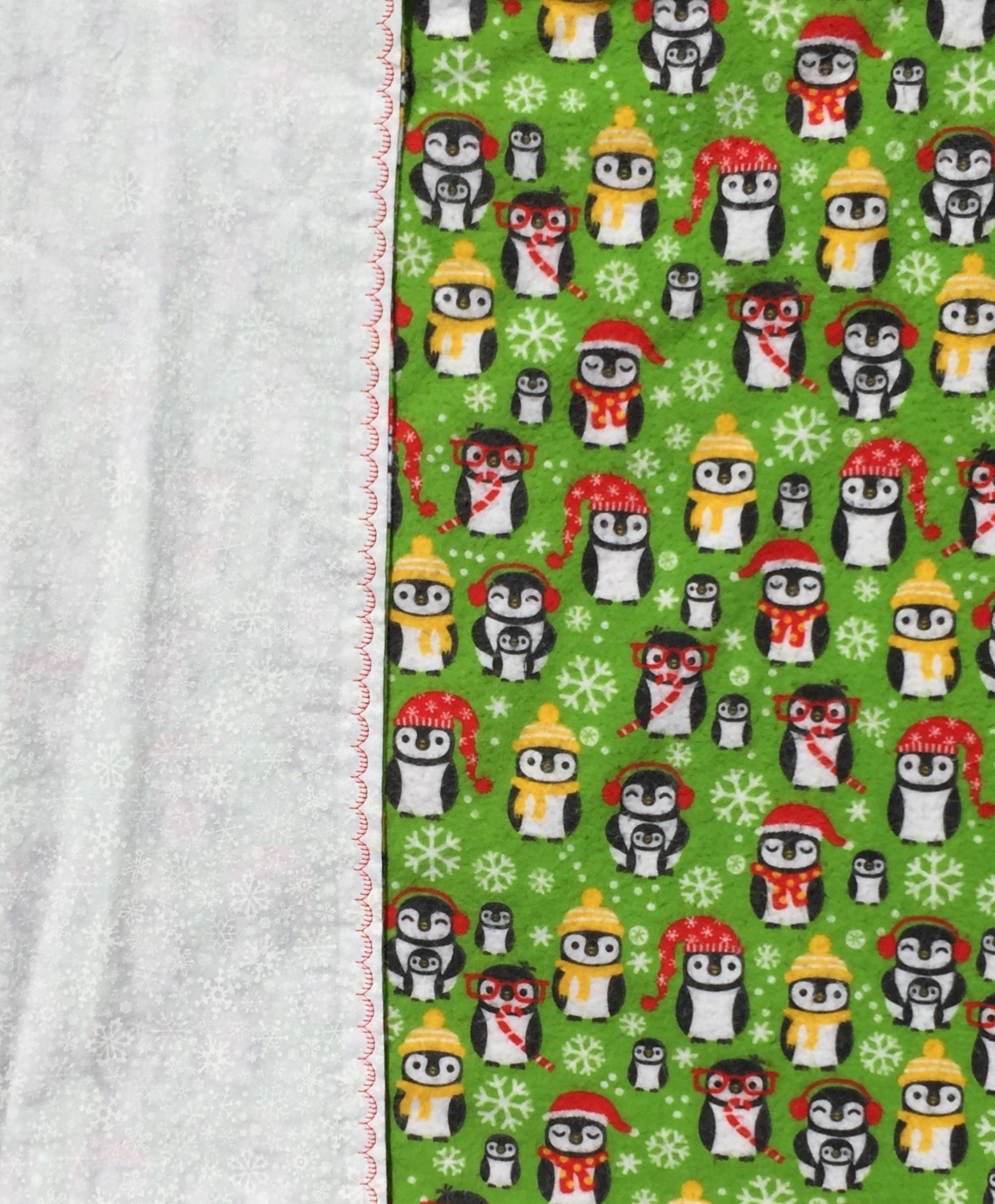 Christmas Owls Baby Blanket