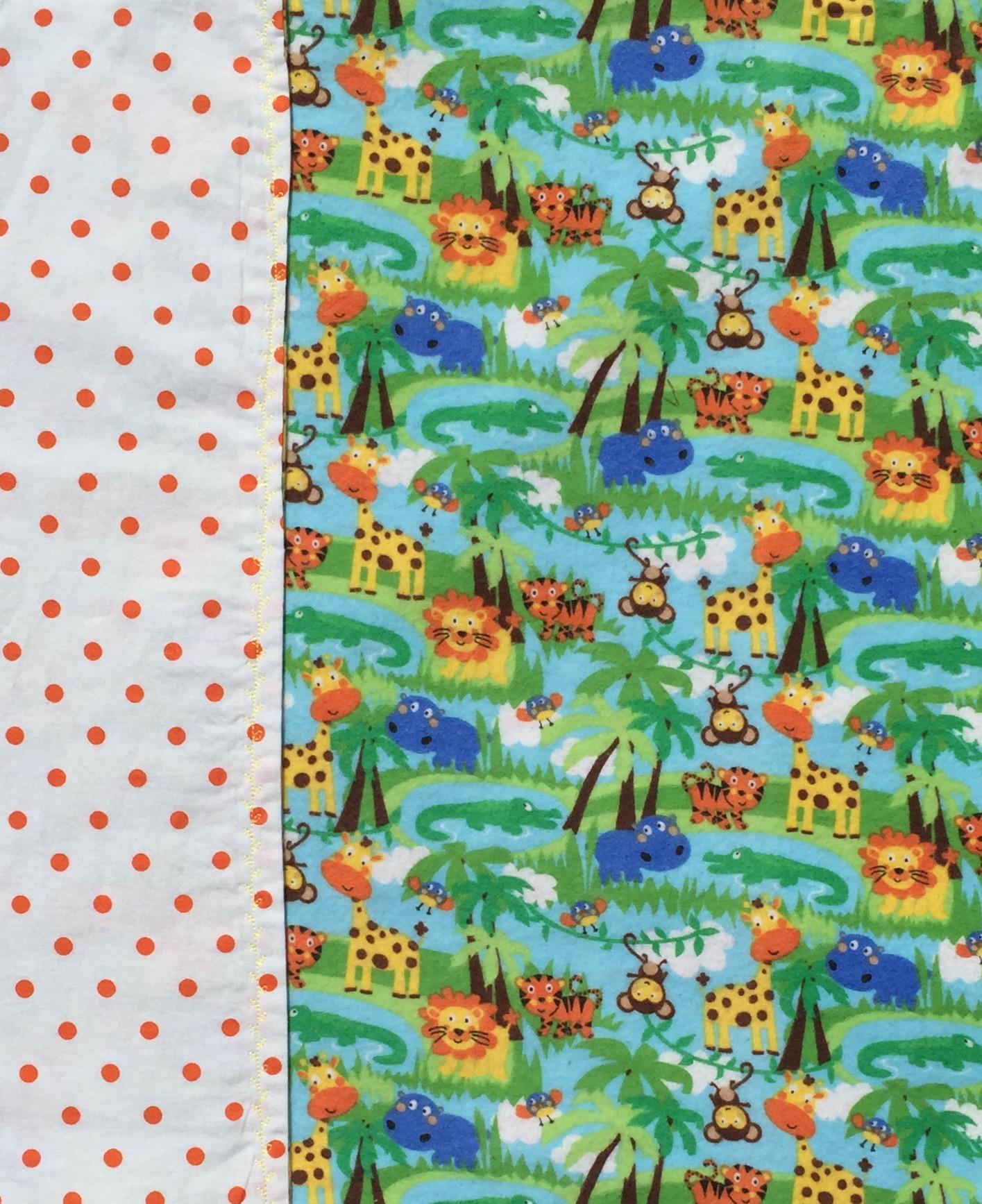 Wild Animal Baby Blanket