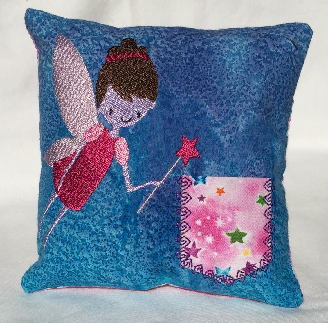 Girl Fairy Blue Watercolor Tooth Fairy Pillow