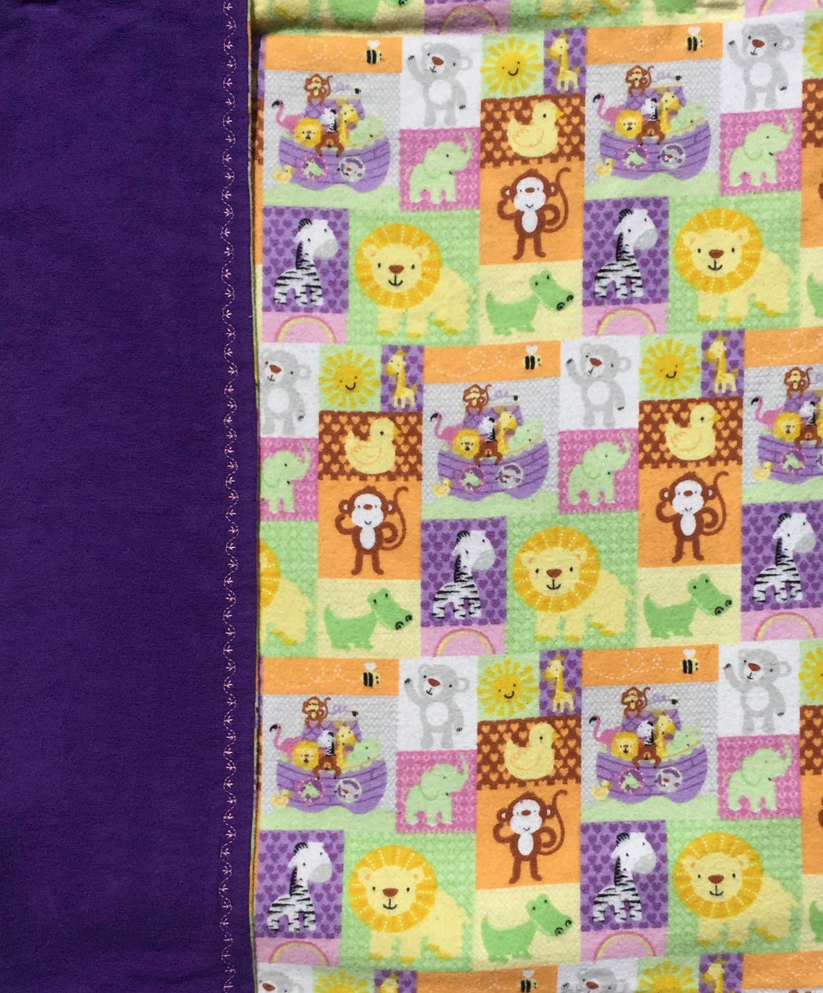 Patchwork Zoo Animal Baby Blanket