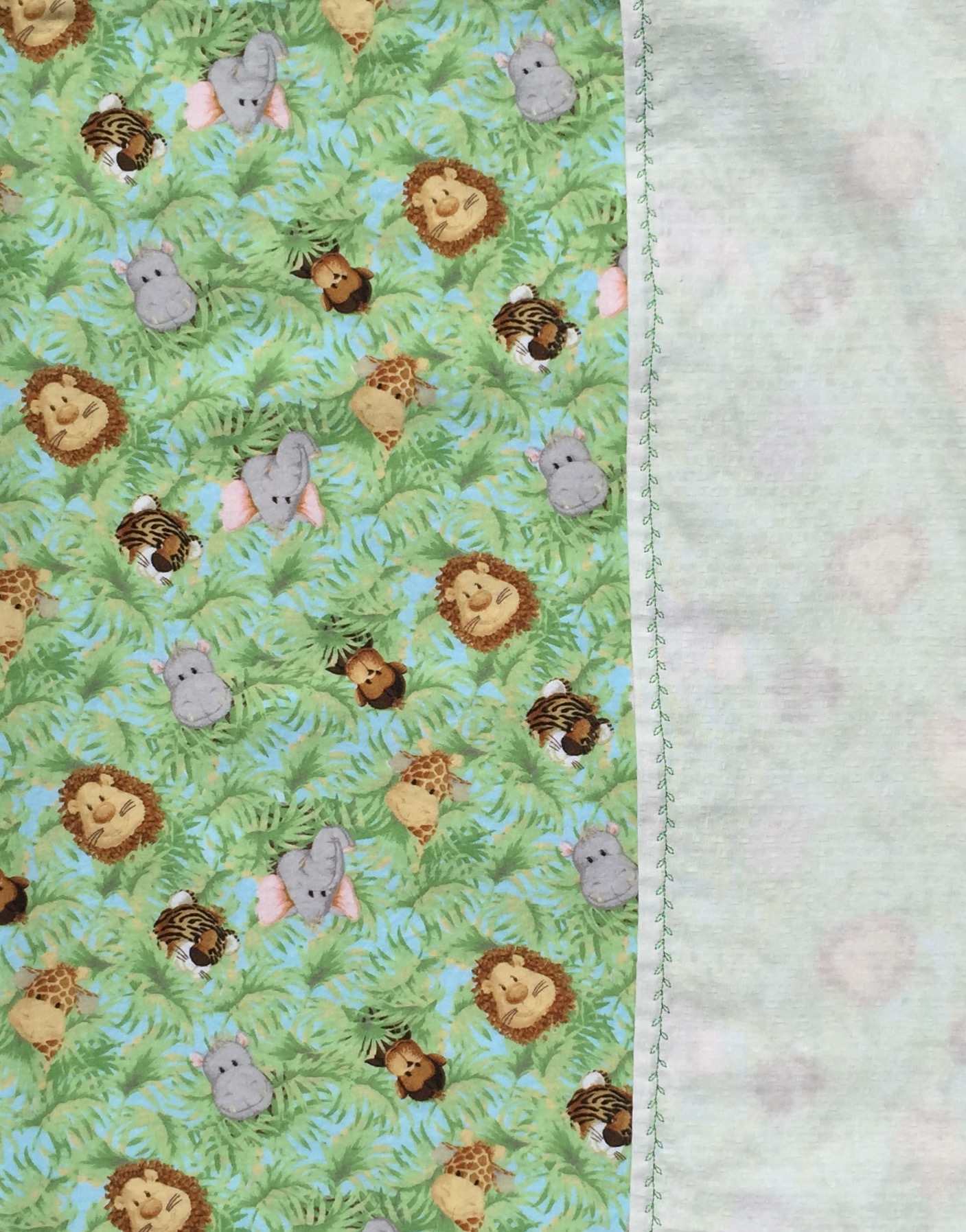 Safari Animal Baby Blanket