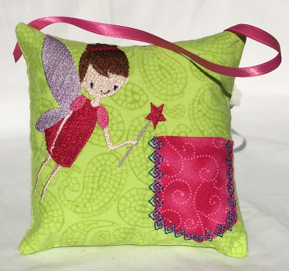 Girl Fairy Green Paisley Tooth Fairy Pillow