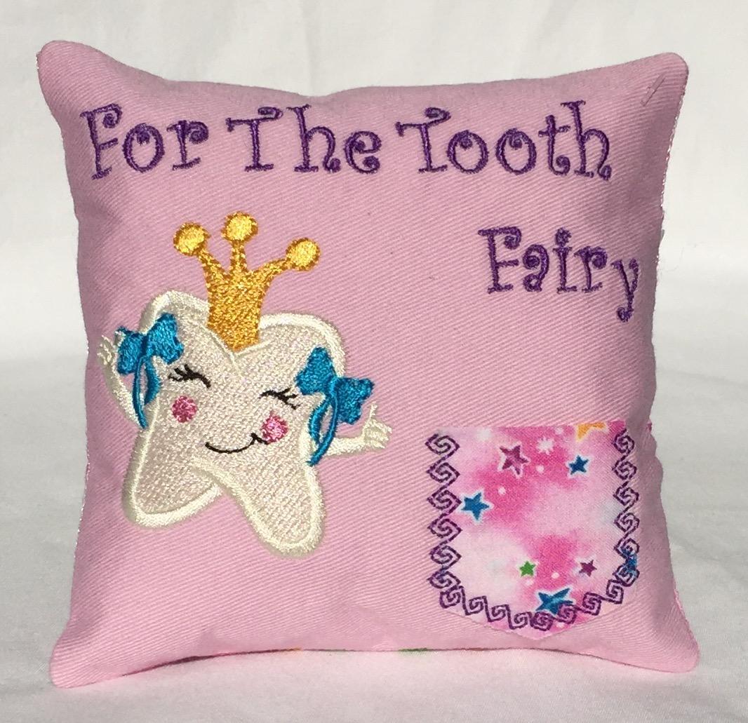 Princess Stars Pink Tooth Fairy Pillow