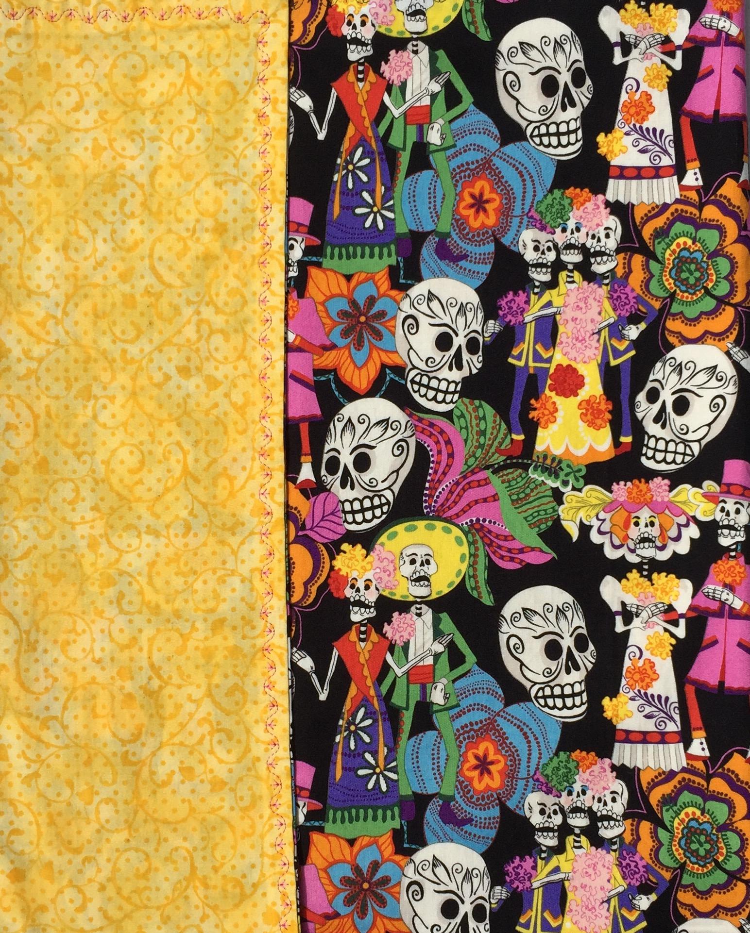 Skulls & Sombreros Day of the Dead Sugar Skull Baby Blanket