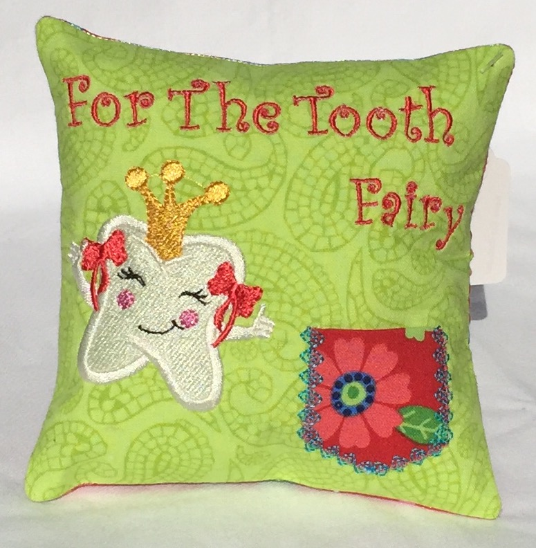 Princess Green Paisley Tooth Fairy Pillow