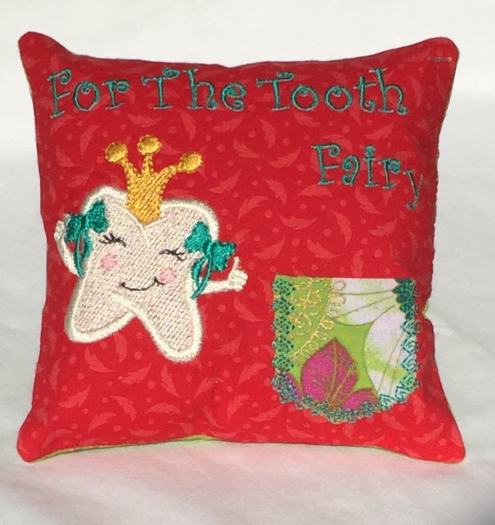 Princess Red Feather Tooth Fairy Pillow