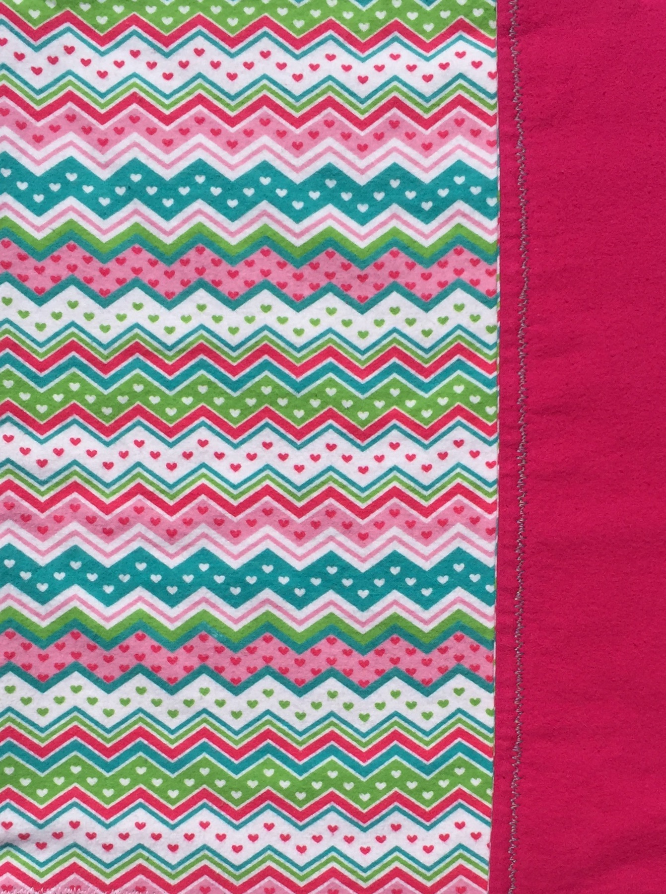 Chevrons & Hearts Baby Blanket