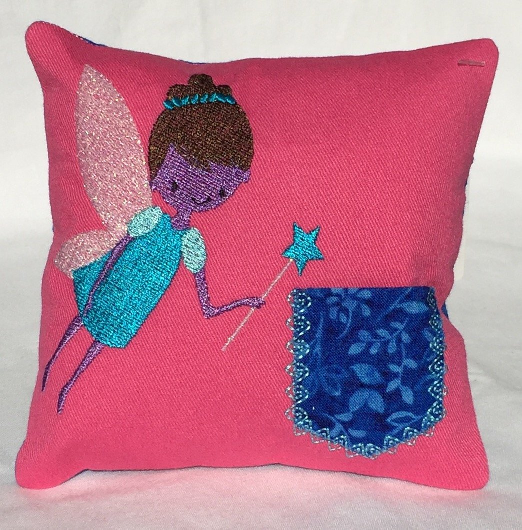 Girl Fairy Pink Tooth Fairy Pillow