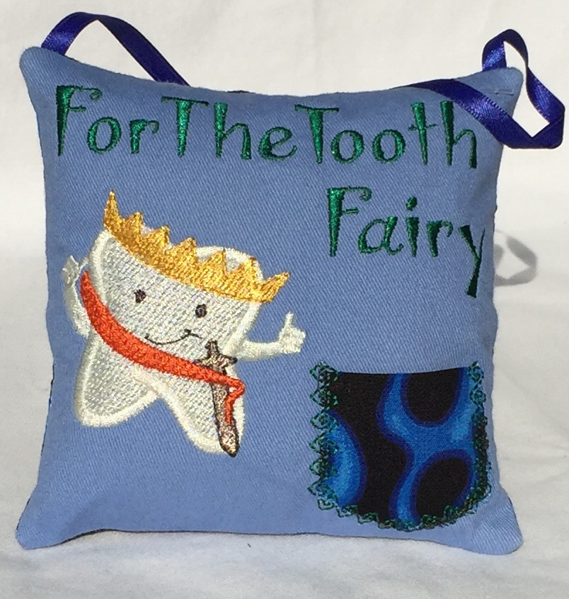 Prince Blue Flame Tooth Fairy Pillow
