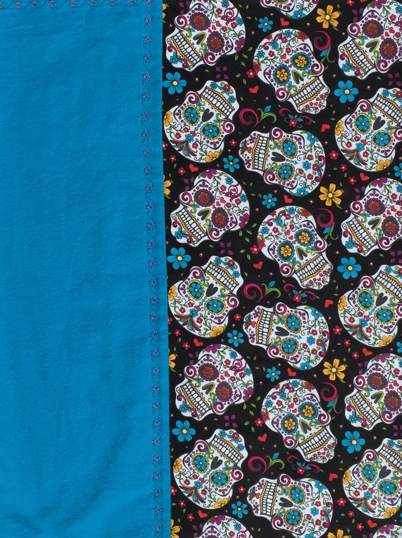Day Of The Dead Sugar Skull Baby Blanket