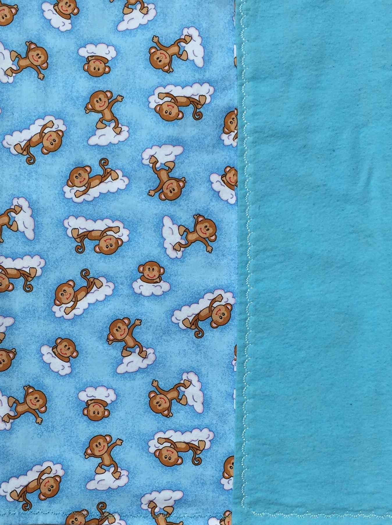 Monkeys on Clouds Baby Blanket