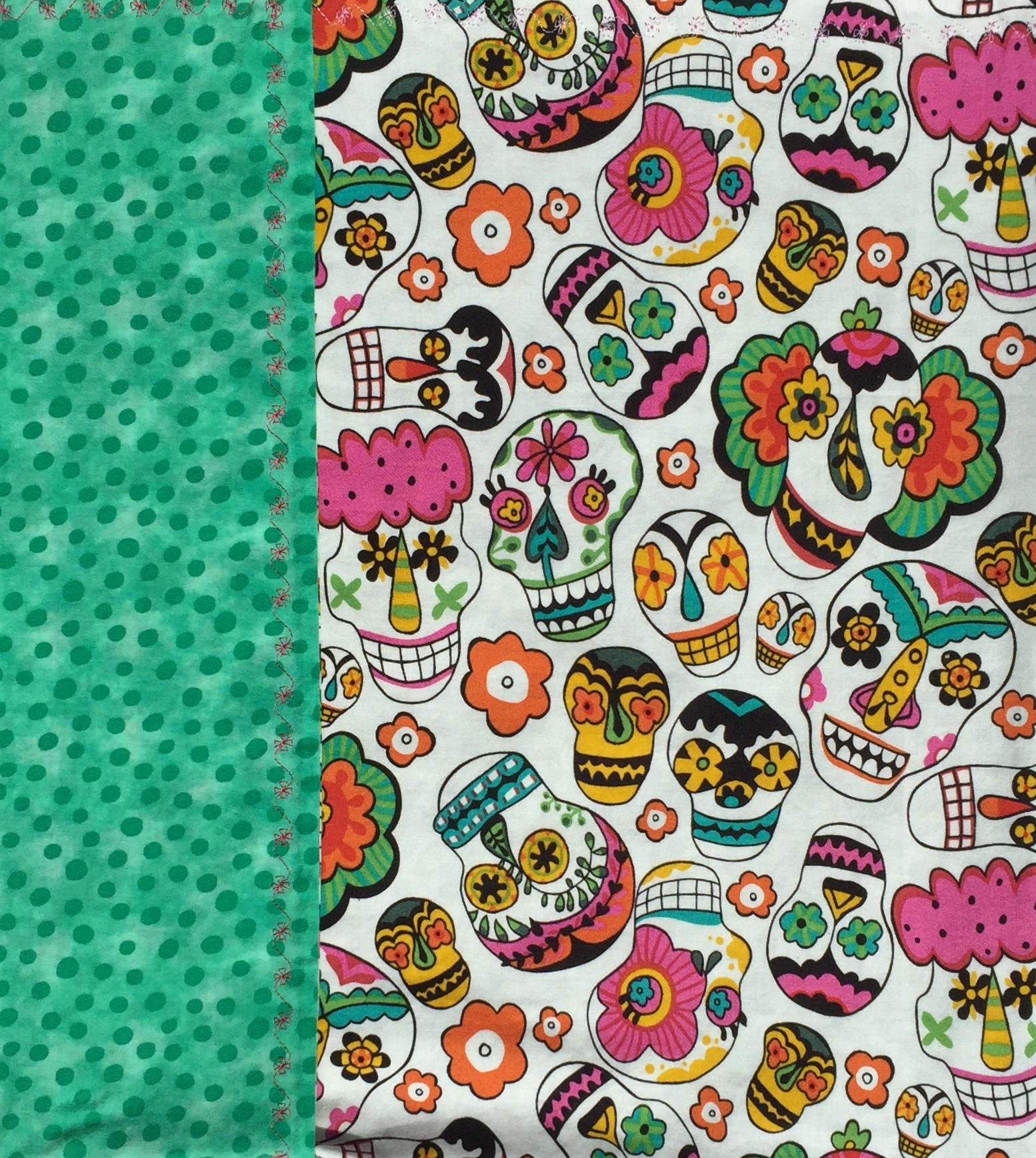 Flowered Skulls Day Of The Dead Baby Blanket