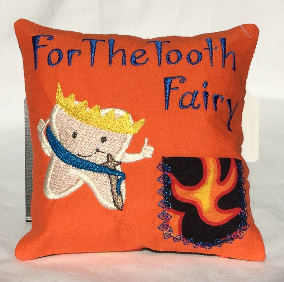 Prince Orange Flame Tooth Fairy Pillow