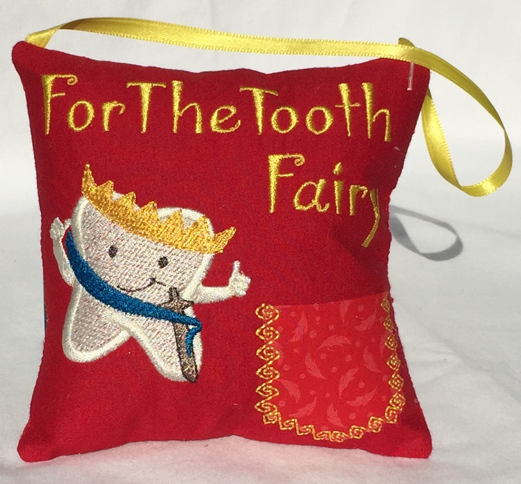 Prince Red Feather Tooth Fairy Pillow