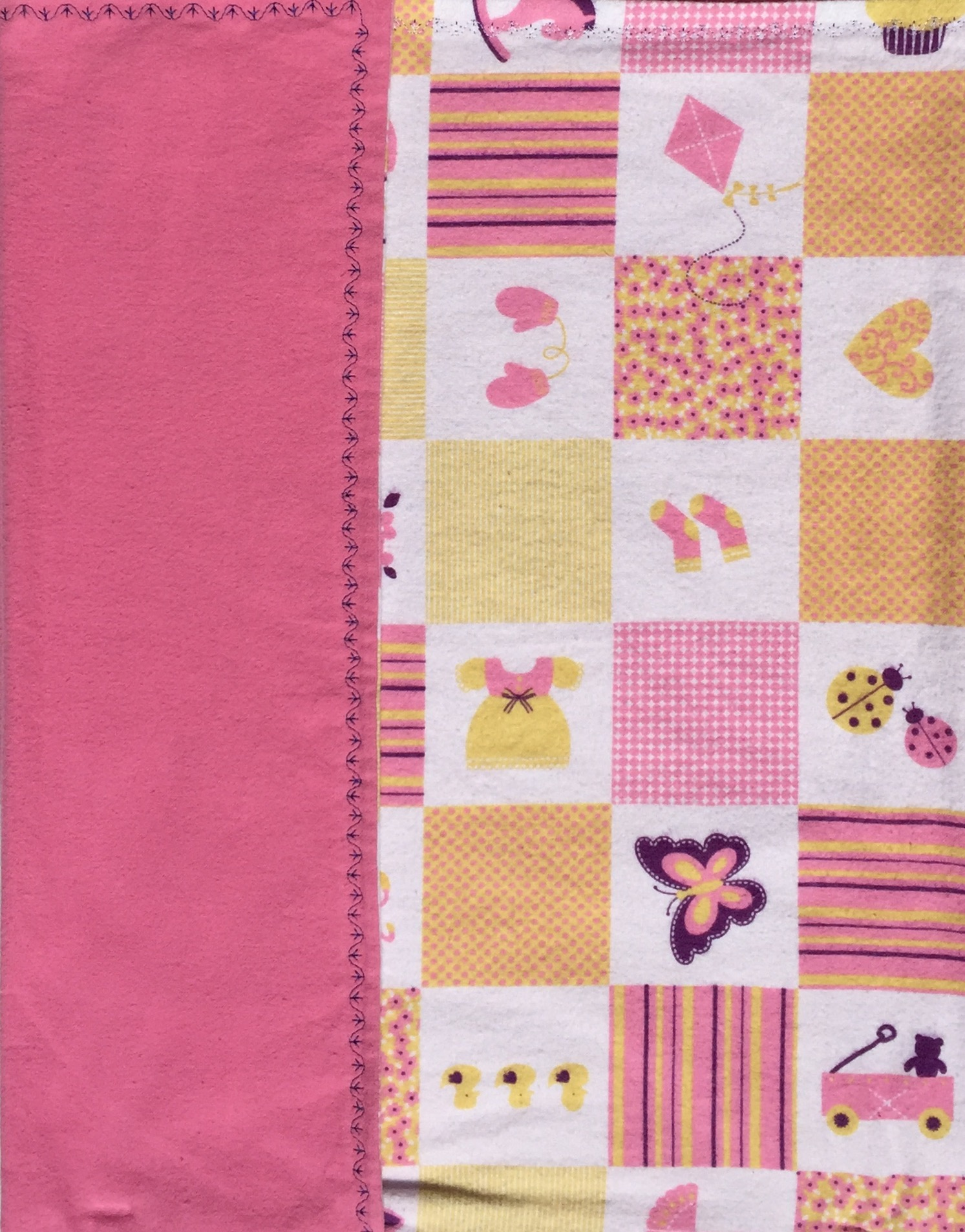 Patchwork Stripes & Polka Dot Baby Blanket