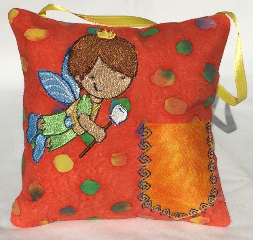 Boy Fairy Orange Dots Tooth Fairy Pillow