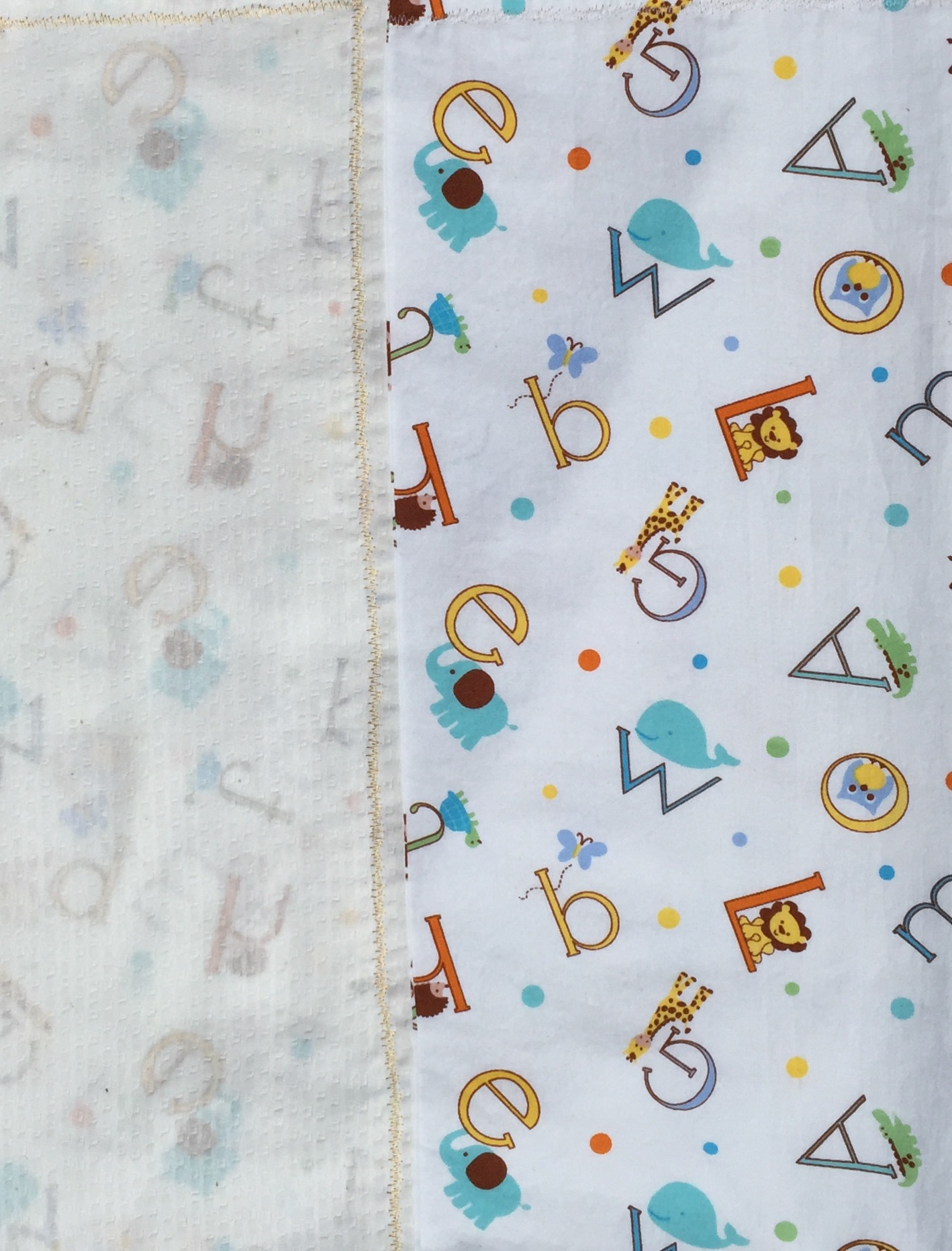 Alphabet Animal Baby Blanket
