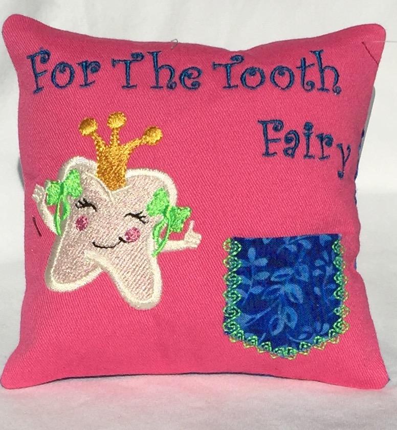 Princess Pink Tooth Fairy Pillow