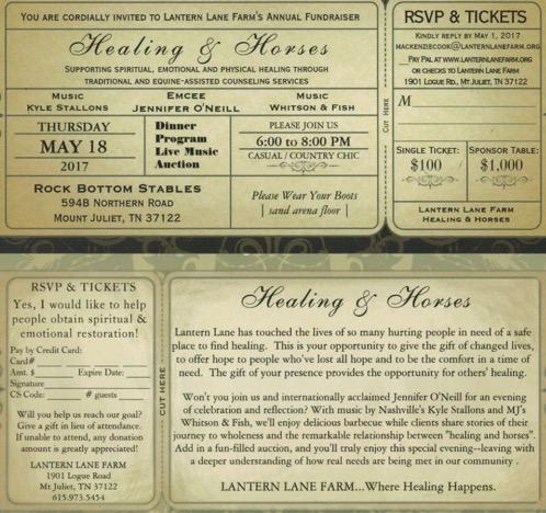 Healing & Horses Fundraiser RSVP - Sponsor a Table
