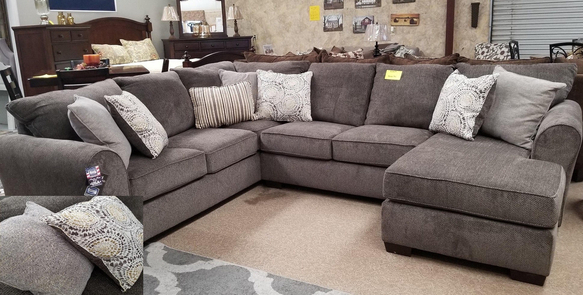 Harlow Ash Sectional w/ Chaise